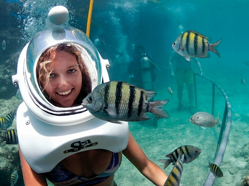 Cozumel Sea Trek Helmet Diving Excursion