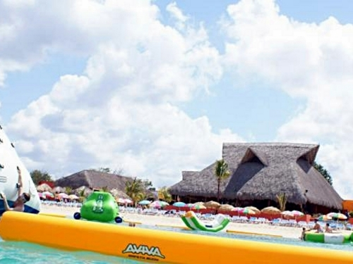 Cozumel Mexico floating water toys Cruise Excursion Reservations