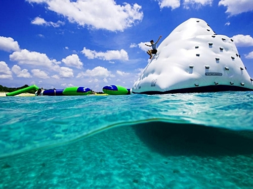 Cozumel Mexico floating water toys Trip Booking