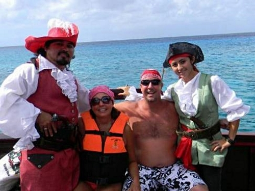 Cozumel Pirate Boat Snorkel Excursion, Party and Lunch